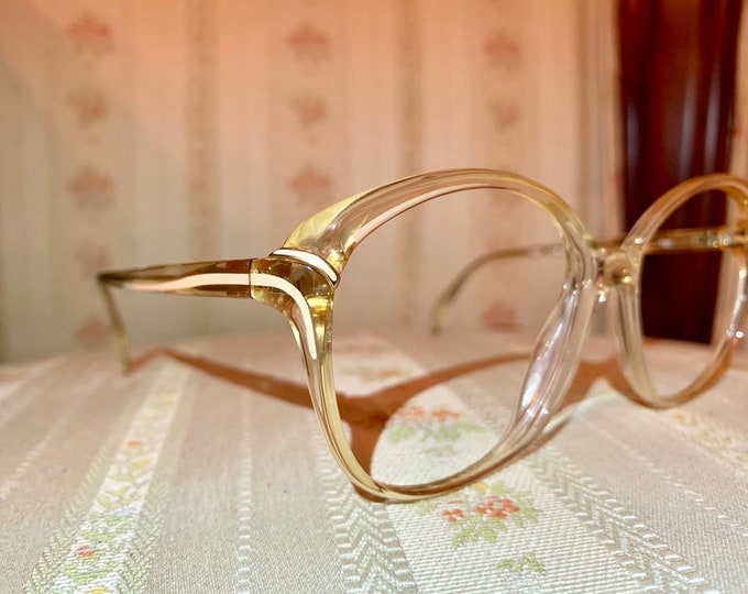 Vintage 80's NOS Metzler Amber and Cream Glasses Frames
