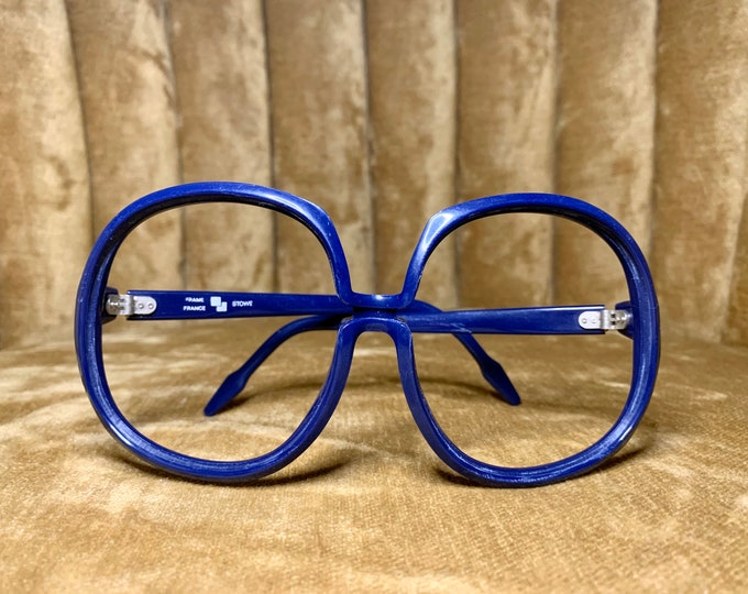 Vintage 70's MOD Royal Blue Stowe Glasses Frames