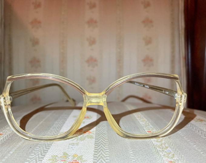 Vintage 70's Rodenstock Brown and Gold Acetate Glasses Frames