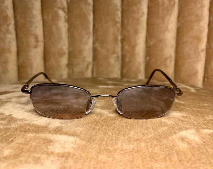 Vintage 90's Rimless Brown Gradient Sunglasses