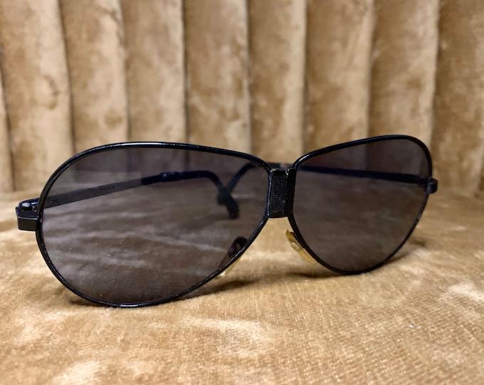 Vintage 90's Collapsible Black Aviator Sunglasses