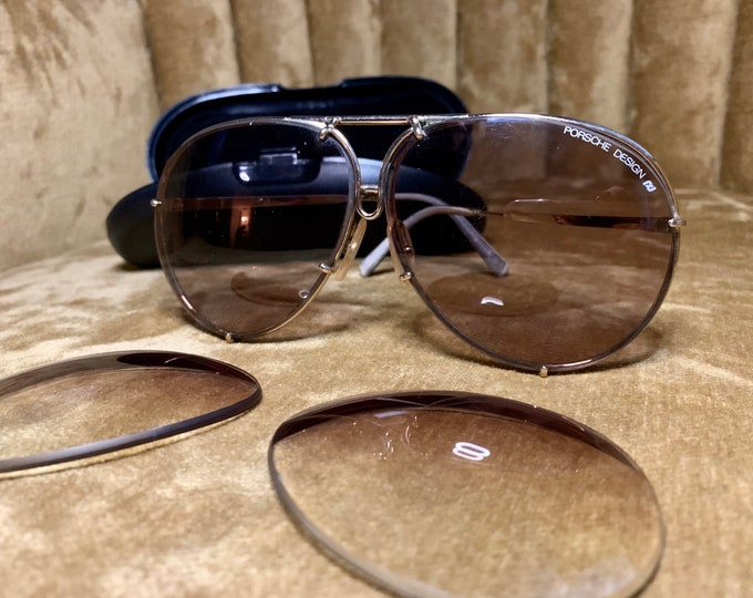 Vintage 80's Carrera 5621 Porsche Sunglasses with Case & Extra Lenses