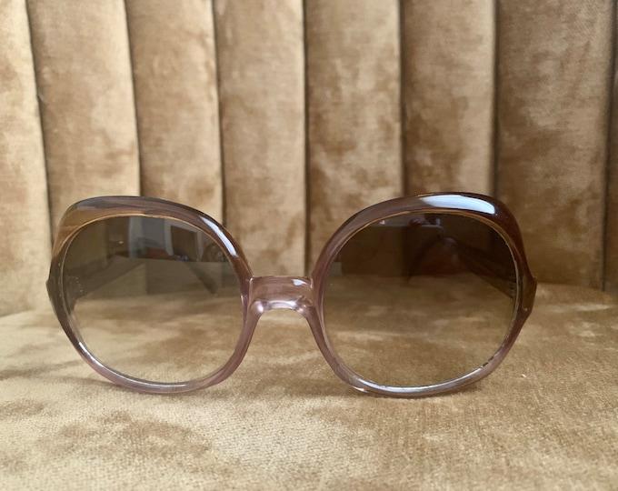 Vintage 70's Brown Mauve Gradient Lens Sunglasses