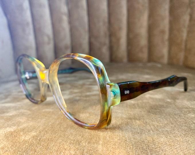 Vintage 70's Zyloware Green Tortoise Shell Glasses/Frames