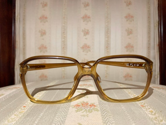 Vintage 80's Zeiss Amber Brown Aviator Style Glasses/Frames