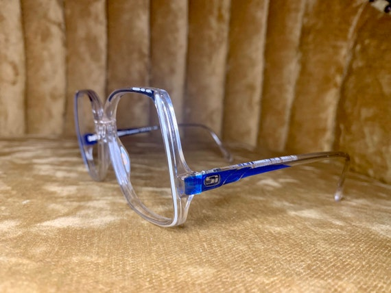Vintage 70's Seasonal Inspirations Blue and Clear Acetate Glasses/Frames