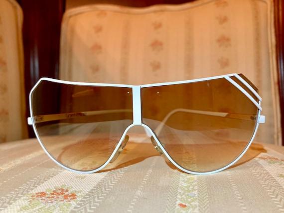 Vintage 80's Gianni Versace White Aviator Sunglass