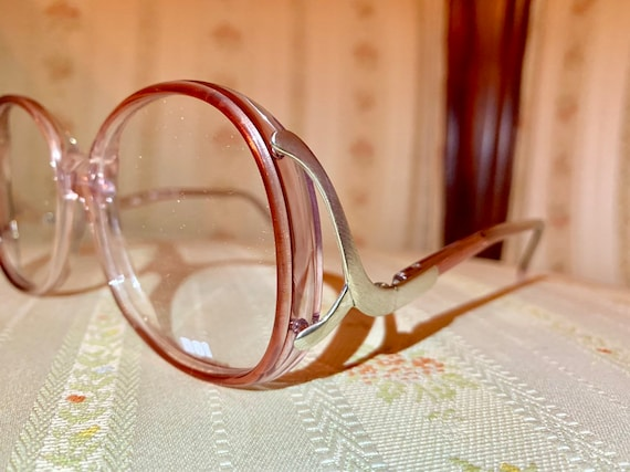 Vintage 70's Eurostyle Red and Silver Drop Arm Glasses/Frames