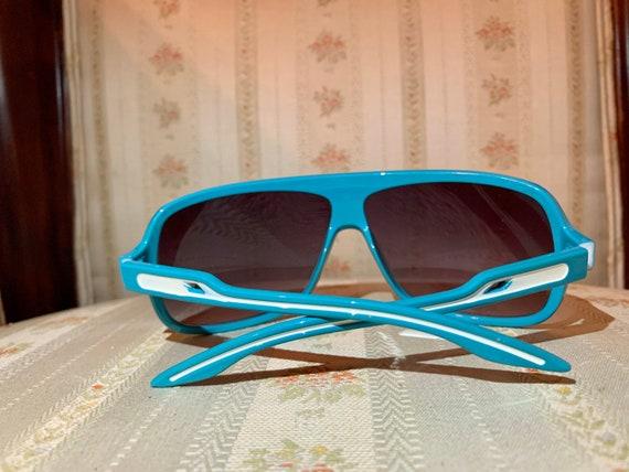 Vintage 80's Turquoise Aviator Sunglasses