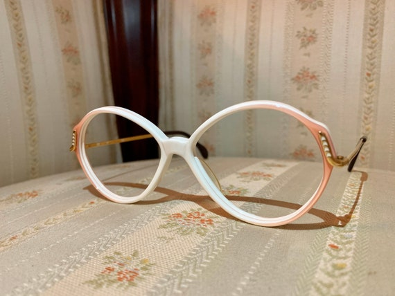 Vintage White and Gold 1960's Eurostyling Glasses