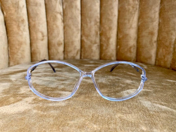 Vintage 80's Silhouette Ice Blue Glasses/Frames