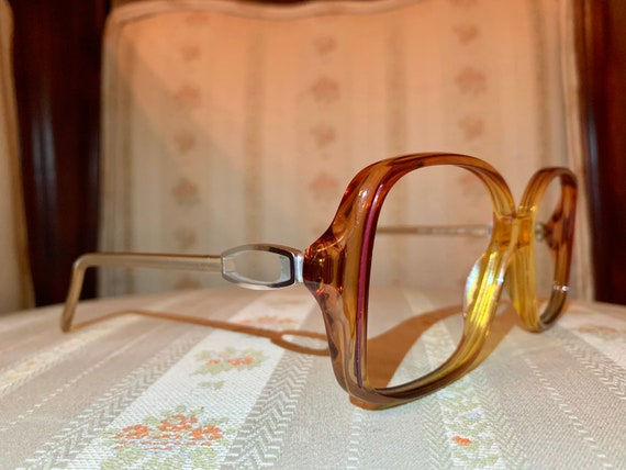 Vintage 80's Marwitz Amber and Silver Frames/Glasses