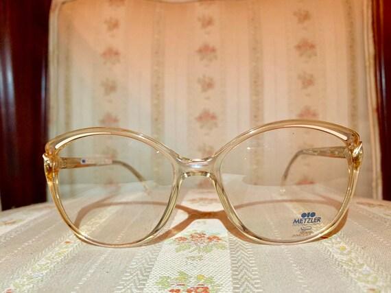 Vintage 80's NOS Metzler Amber and Cream Glasses/Frames