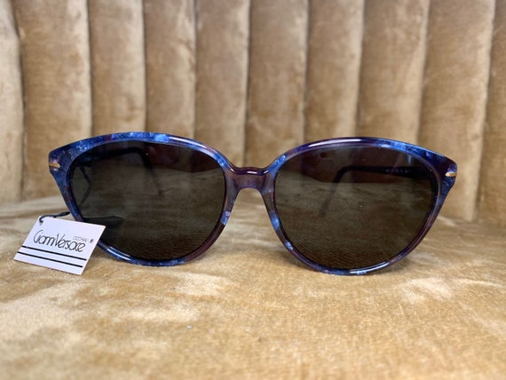 Vintage 80's NOS Gianni Versace Royal Blue Sungla… - image 2