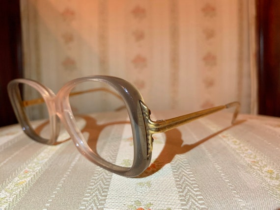 Vintage 60's Atelier Gradient Rose Acetate and Gold Frames/Glasses