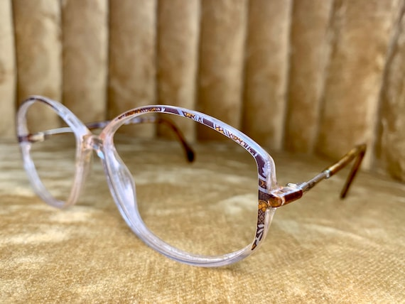 Vintage 80's Silhouette Brown Abstract Patterned Glasses/Frames
