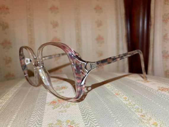 Vintage 70's Luxottica Multicolored Iridescent Tortoise Shell Glasses/Frames
