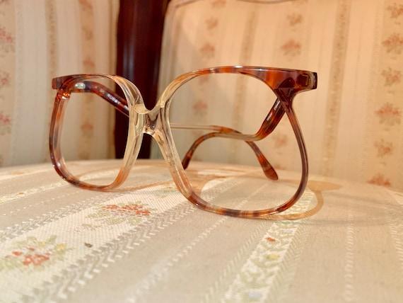 Vintage 80's Tiffany Eyewear Teardrop Drop Arm Tortoise Shell Frames/Glasses