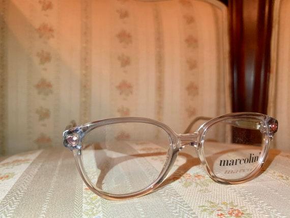 Vintage 80's NOS Marcolin Pink Heart Rhinestone Children's Frame/Glasses