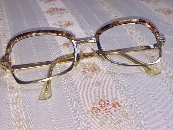 Vintage 80's American Artcraft Gold and Tortoise Shell Frames/Glasses