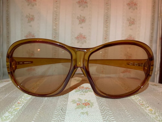 Vintage 70's Marwitz Round Brown Aviator Sunglasses