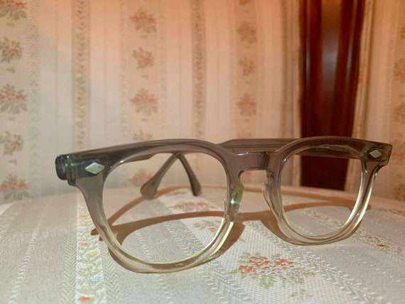 Vintage 60's Blue and Clear Wayfarer Frames/Glasses