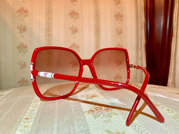 Vintage 80's Club Méditerranée Red and White Logo Sunglasses