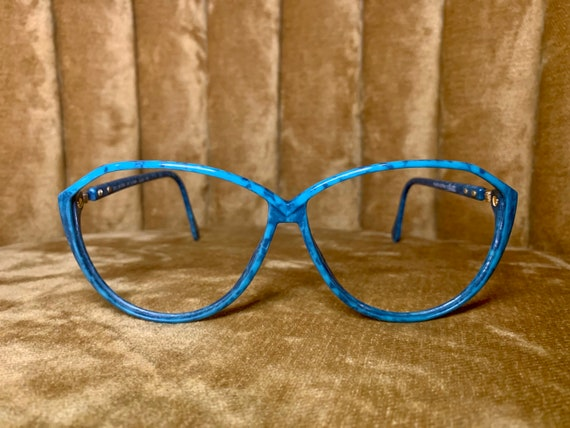 Vintage 80's Silhouette Turquoise and Gold Glasses/Frames