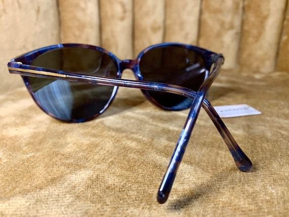 Vintage 80's NOS Gianni Versace Royal Blue Sungla… - image 3
