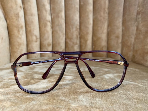 Vintage 80's Silhouette Brown and Gold Aviator Glasses/Frames