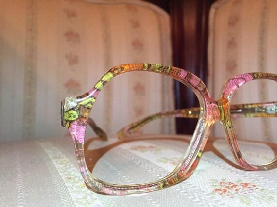 Vintage 70's Tiffany Eyewear Floral Print Glasses/Frames