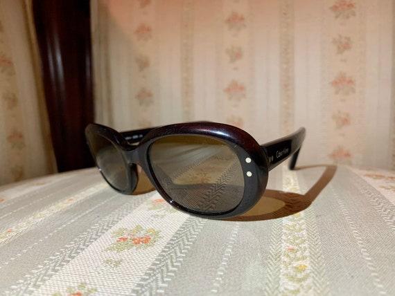 Vintage 90's Calvin Klein Black Small Frame Sunglasses