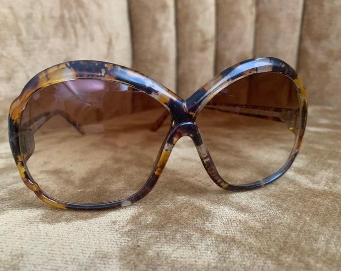 Vintage 80's Multicolor Brown Tortoise Shell Sunglasses