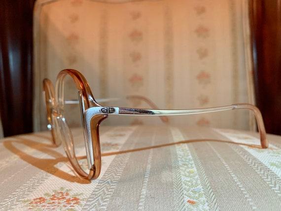 Vintage 70's NOS Geoffrey Beene Silver Logo Brown Frames/glasses