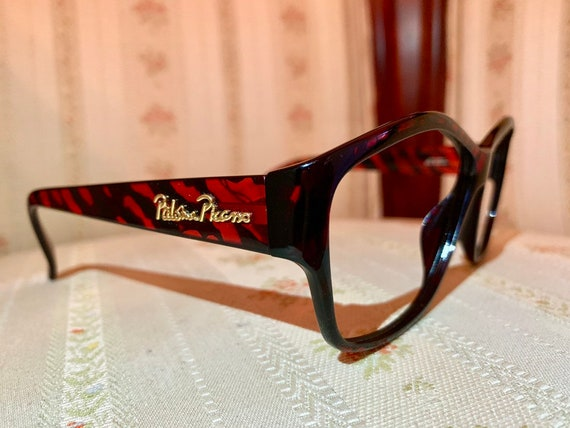 Vintage 80's Paloma Picasso Cognac Printed Glasses/Frames