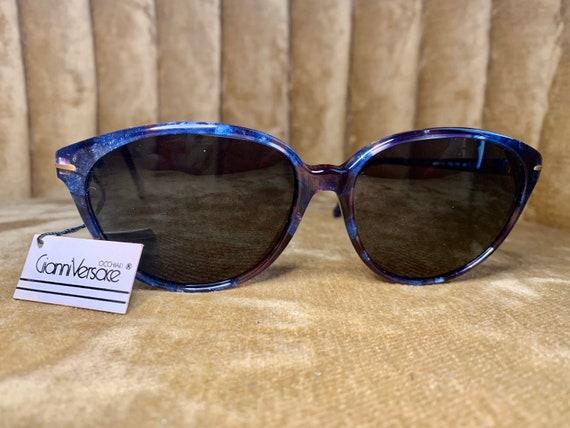 Vintage 80's NOS Gianni Versace Royal Blue Sungla… - image 1