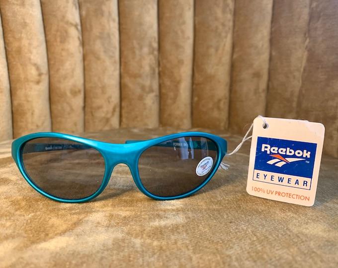 Vintage 80's Reebok Green Sports Goggles Sunglasses