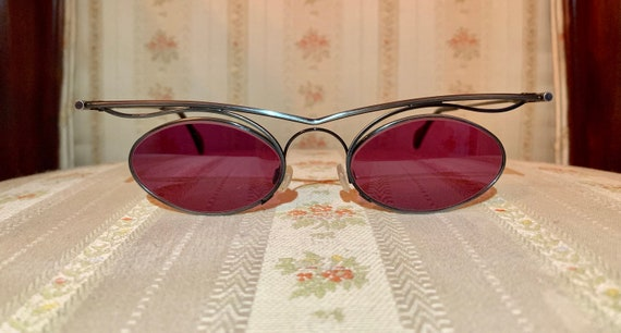 Vintage 80's NOS MCS Zyklop Rose Colored Sunglasses