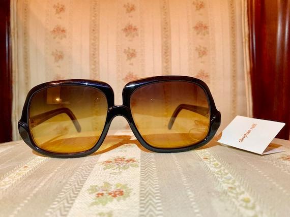 Vintage 80's NOS Christian Roth Black Sunglasses
