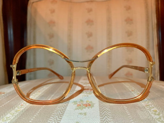 Vintage 70's Tura Amber Brown and Bronze Frames/Glasses