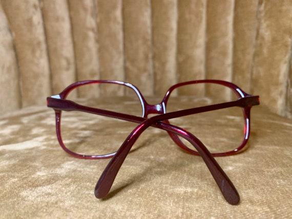 Vintage 70's Luxottica Maroon Acetate Glasses/Frames