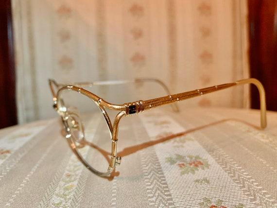 Vintage 80's Ted Lapidus Gold Logo Glasses/Frames