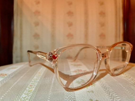 Vintage 80's NOS Marcolin Red Heart Rhinestone Children's Frame/Glasses