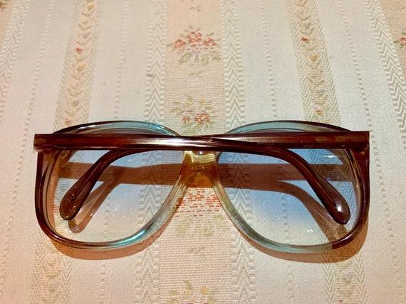 Vintage 70's NOS Köln Optik Blue Lensed Sunglasses/Glasses