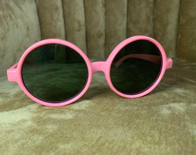 Vintage 80's Pink Round Sunglasses