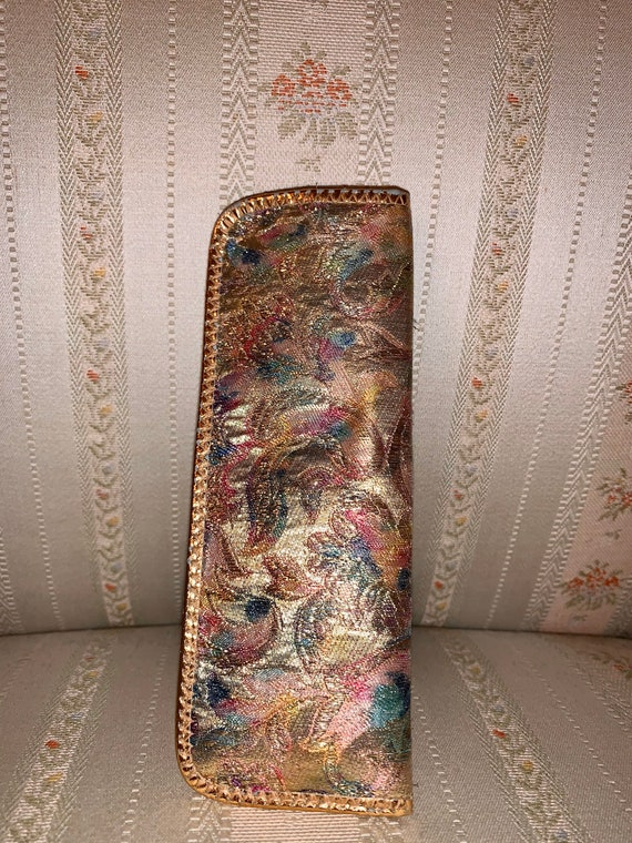 Vintage 60's Reader Small Frame Multicolor Silk Eyeglass Case