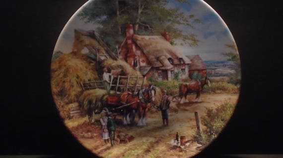 Wedgwood Limited Edition Collectors Plate EARLY MORNING MILK Shire Horse