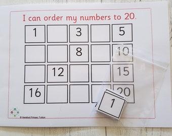 Ordering numbers maths resources 4 digit numbers ks2 order numbers to 20 maths game teaching resources learning resources ks1 home schooling matching game eyfs ibookread ePUb