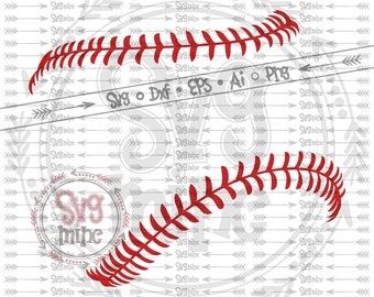 Baseball stitches svg -- Baseball svg files -- Baseball laces svg -- Vector files for Cutting, Printing, Web Design projects and much more:)