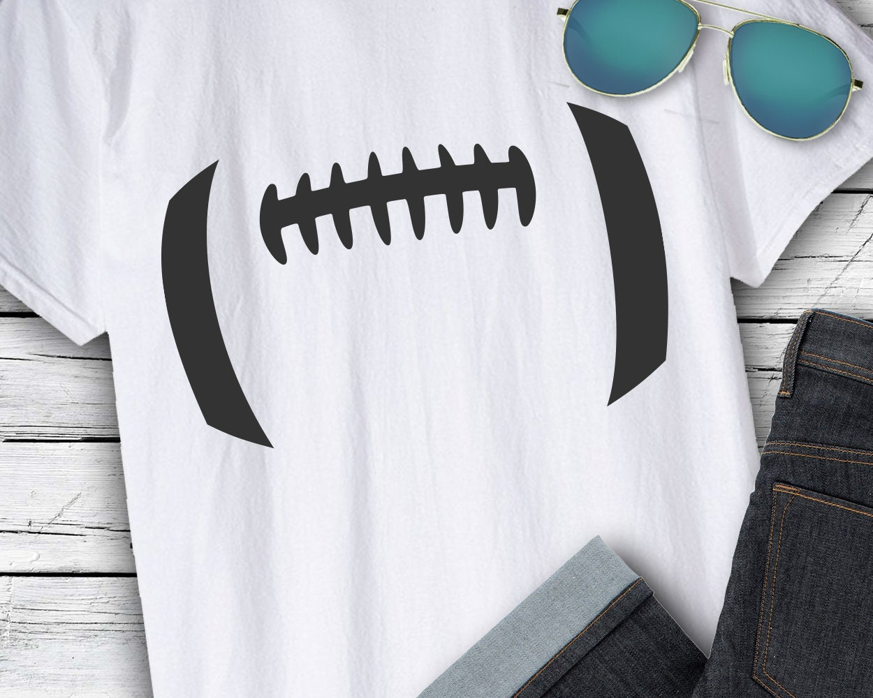 Football Svg Files Football Laces Svg Football Stitches
